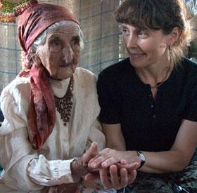Yvonna Fričová s tetičkou Hermínií (+2009)