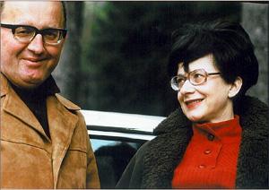 Manželé Zuzana Růžičková a  Viktor Kalabis, skladatel