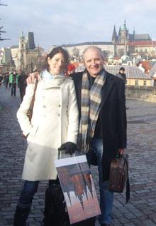 J. Šonský se svojí francouzskou pianistkou Sylvaine Wiart