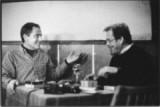 Herec Jan Tříska s Václavem Havlem